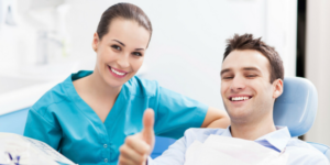 emergency dentist delray beach doctor with patient